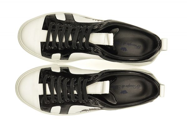 sneakers pelle logo Milano