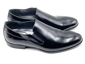 pantofola in spazzolato nero