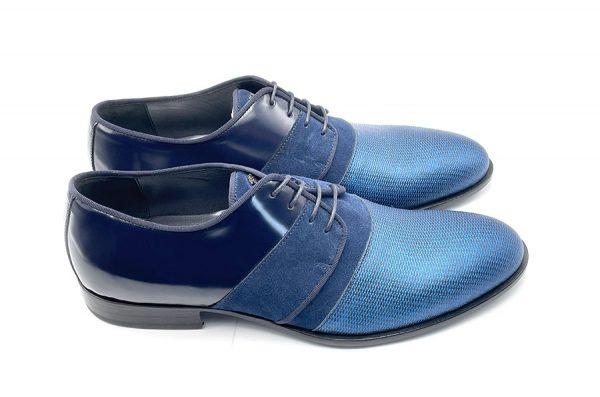 derby tricolore blu